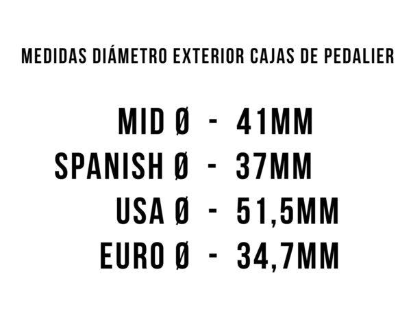 BMX DIAMETRO EXTERIOR CAJA PEDALIER
