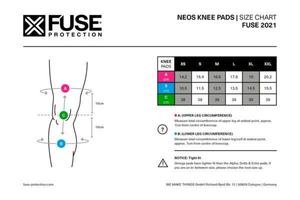 Protecciones rodilla Fuse Neos